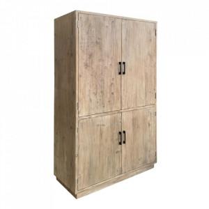 Dulap maro din lemn de ulm 210 cm Elami Denzzo