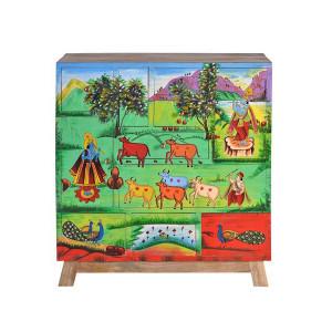 Dulapior multicolor din lemn de mango Elsie Giner y Colomer