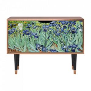 Dulapior multicolor din MDF si lemn Irises By Vincent Van Gogh Clara Furny