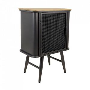 Dulapior negru/maro din lemn de bambus si metal Luton HSM Collection