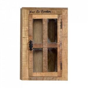Dulapior pentru perete maro din lemn de mango Rustic Sit Moebel