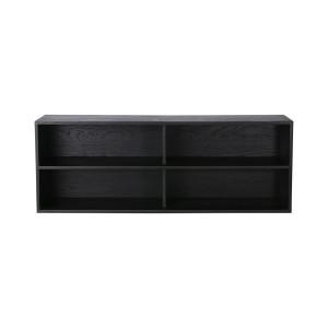 Etajera neagra din placaj si lemn de sungkai 36 cm Carla A HK Living