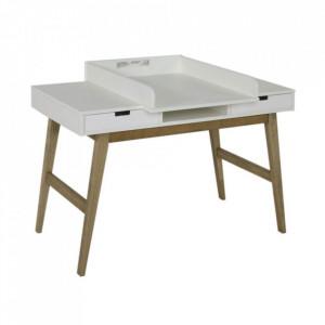 Extensie modulara alba din MDF Trendy Desk Quax