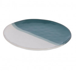Farfurie alba/albastra din ceramica 28,4 cm Nelba La Forma