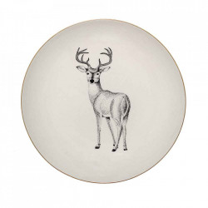 Farfurie alba din ceramica 25 cm Noel Bloomingville