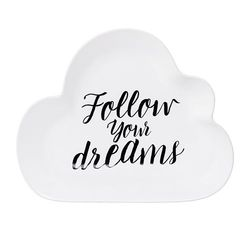 Farfurie din ceramica alba Follow Your Dreams Bloomingville