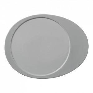 Farfurie gri din ceramica 24,5x31,5 cm Glitte Bloomingville