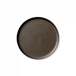 Farfurie maro din portelan 27 cm Norm Dark Glazed Menu