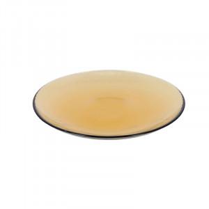 Farfurie portocalie din sticla pentru desert 20,8 cm Nausica La Forma