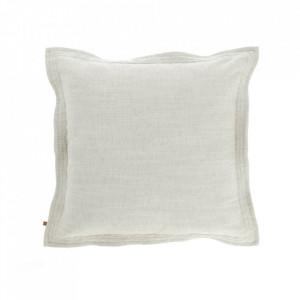 Fata de perna alba din textil 45x45 cm Maelina La Forma