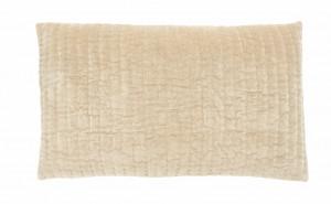 Fata de perna bej nisipiu din catifea 38x63 cm Castor Nordal