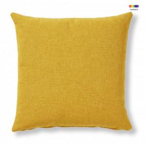 Fata de perna galben mustar din textil 45x45 cm Mak Varese La Forma