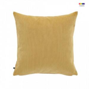 Fata de perna galben mustar din textil 45x45 cm Namie La Forma