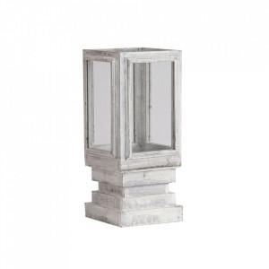 Felinar din lemn si sticla 48 cm Sofia Vical Home