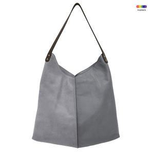 Geanta gri din piele de vaca Elephant Grey Bag HK Living