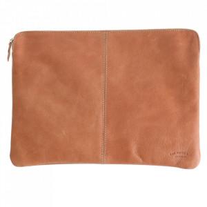 Geanta maro din piele de bivol pentru laptop 28x38 cm Camel Raw Materials