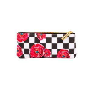 Geanta multicolora din poliester si poliuretan 9x21 cm pentru cosmetice Toiletpaper Roses Seletti