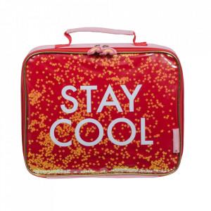Geanta multicolora din poliuretan Stay Cool A Little Lovely Company