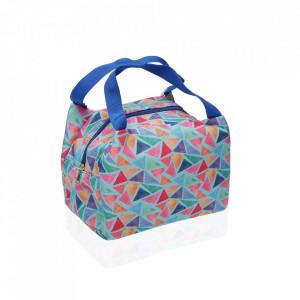 Geanta termoizolanta multicolora din poliester 18,5x24 cm Triangle Lunch Mini Versa Home