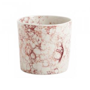 Ghiveci alb/roz din ceramica 8 cm Miller Ale Nordal