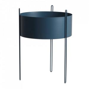 Ghiveci albastru din metal 40 cm Pidestall Woud