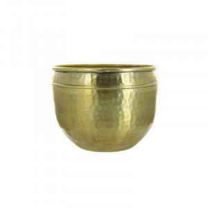 Ghiveci auriu din aluminiu 17 cm Aydın Lifestyle Home Collection