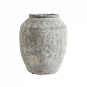 Ghiveci gri din ciment 33 cm Cema Medium Nordal