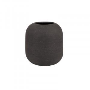 Ghiveci gri din rasina poliuretanica cu pulbere de piatra 20 cm Rumi Lifestyle Home Collection
