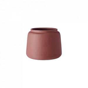 Ghiveci maro din ceramica 19 cm Totem Conic Bolia