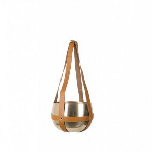 Ghiveci suspendabil din aluminiu si piele 21 cm Oasis Dutchbone