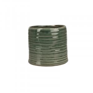 Ghiveci verde din ceramica 15 cm Yori Lifestyle Home Collection