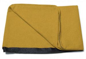 Husa galben mustar din textil pentru tablie pat 150 cm Dyla Kave Home