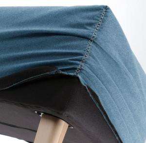 Husa pentru bancheta albastra din textil Lydia Dark Blue La Forma