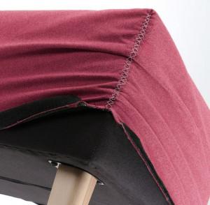 Husa pentru bancheta rosie din textil Lydia Burgundy La Forma