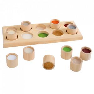 Joc de memorie 11 piese din lemn Touch Small Foot