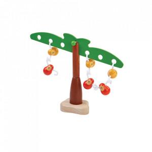 Jucarie multicolora din lemn Balancing Monkeys Plan Toys