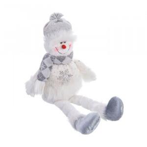 Jucarie multicolora din textil Snowman Unimasa