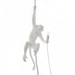 Lampa alba suspendata 27×30cm The Monkey Outdoor Version Seletti