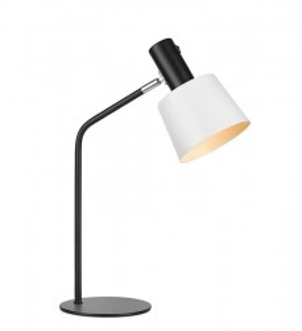 Lampa birou ajustabil din metal negru cu abajur alb Bodega Markslojd