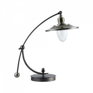Lampa birou argintie din metal 44,2 cm Senna Maytoni