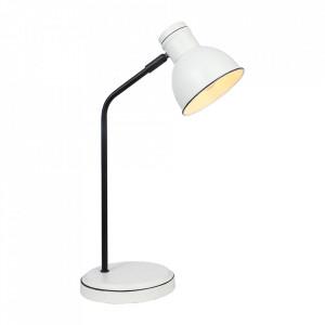 Lampa birou neagra/alba din metal 41 cm Zumba Candellux