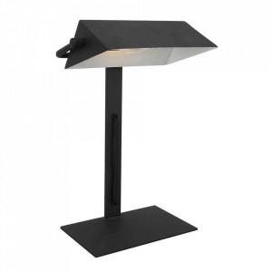 Lampa birou neagra din otel 36 cm Bankier Candellux