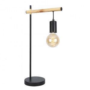 Lampa birou neagra/maro din otel 55 cm Izzy Candellux
