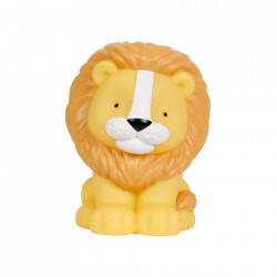 Lampa de veghe galbena din PVC cu LED 18 cm Lion A Little Lovely Company