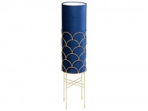 Lampadar albastru din metal si poliester 103 cm Clyde Santiago Pons