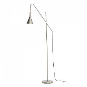 Lampadar argintiu din metal 167 cm Floor Nickel Hubsch