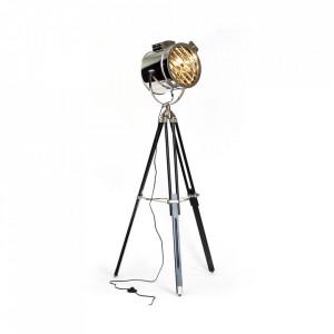 Lampadar argintiu/negru din metal si sticla 174 cm Cine Brilliant
