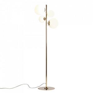 Lampadar auriu/alb din metal si sticla cu 4 becuri 161 cm Balia Aldex