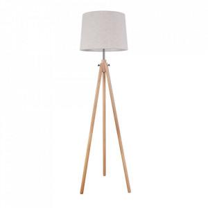 Lampadar bej din lemn si bumbac 161,5 cm Calvin Maytoni