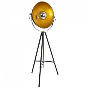 Lampadar negru/auriu din metal 163 cm Vidar Steinhauer